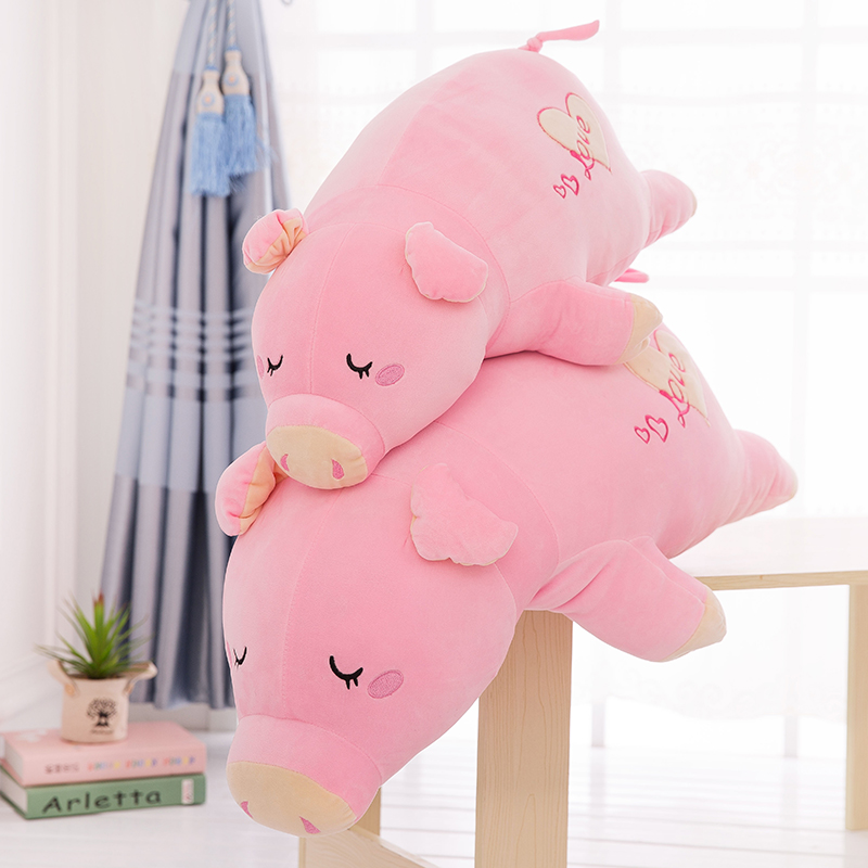 Candice guo plush toy stuffed doll cartoon animal pink papa love pig piggy sleeping pillow soft cushion baby birthday gift 1pc