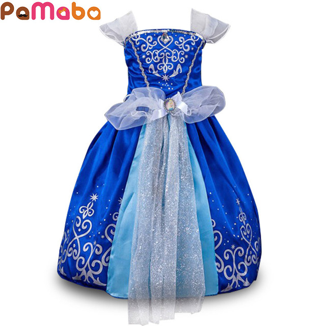 PaMaBa Cinderella Cosplay Costume for Girls Princess Rapunzel ...