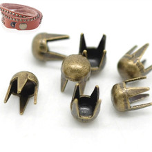 "Купить с кэшбэком 200Pcs Bronze Tone Round Dome Vintage Spike Rivet Studs Spots Crafts Jewelry Clothing Bags Shoes Making 3mm( 1/8"")"