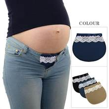 Pregnancy Comfortable Maternity Waistband Belt Adjustable Elastic Waist Extender Button Belt Garment Accessories For Pregnant(China)