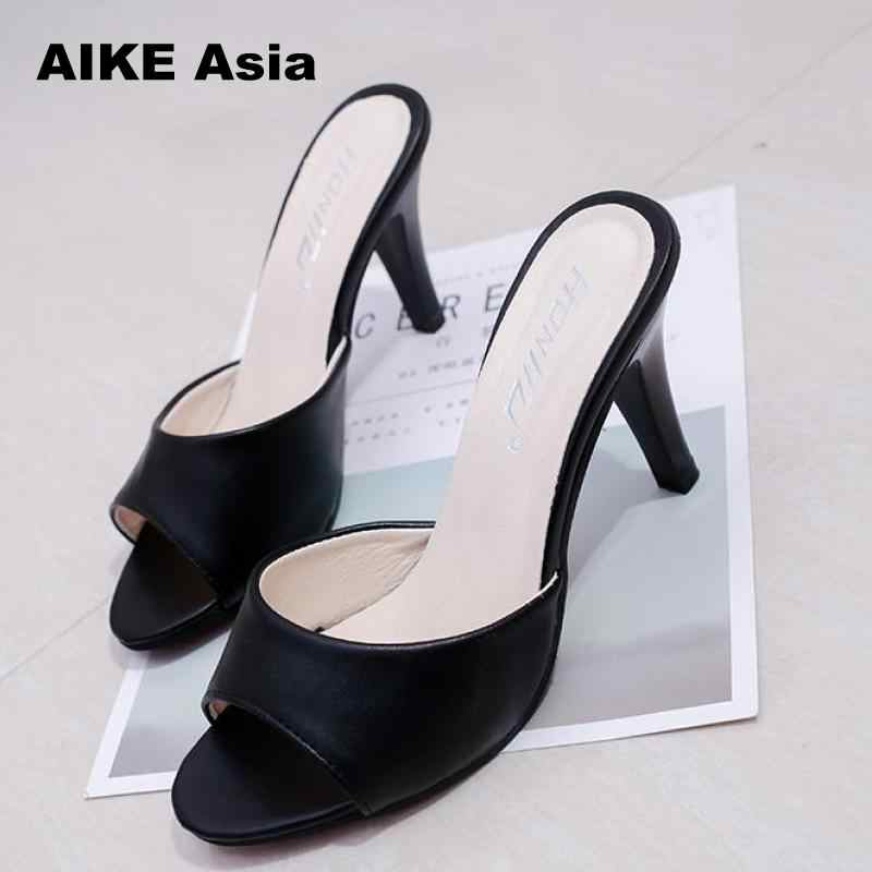 2019 frauen Concise Fashionshoes frau Dünne Fersen frauen Schnalle pumps pumps high heels Peep Toe Super Hohe