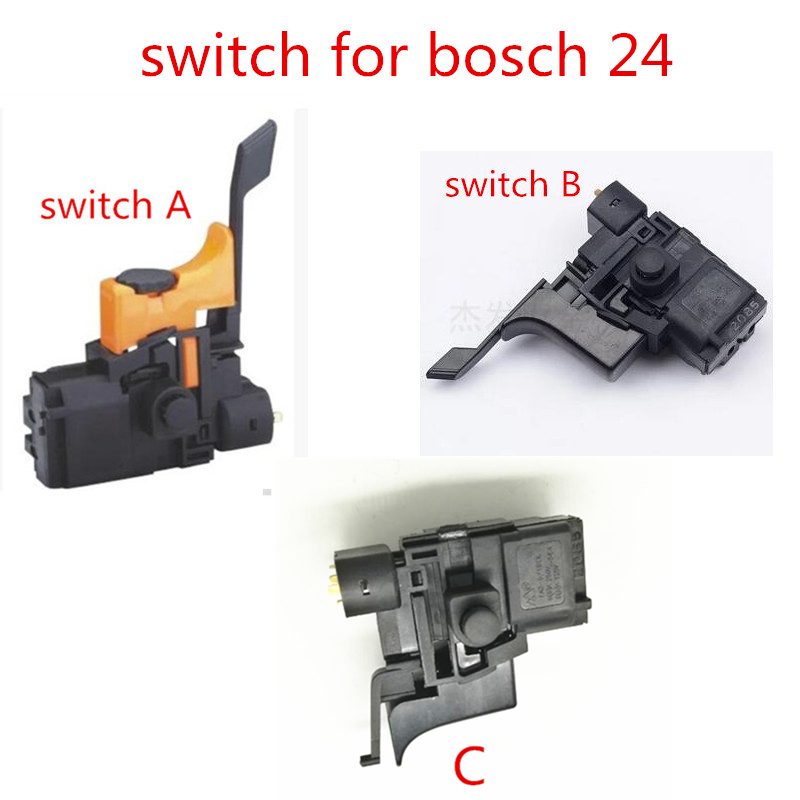 Switch on-off For BOSCH 24 BOSCH 1 617 200 077 GBH2-24DSR GAH500DSR GBH2SR GBH2-2DFR Hammer Drill Accessories Parts carbon brush plate holder for bosch gbh2 26dfr gsb16re gsb19 2re gsb19 2rea hd21 2 gbh2 23re 11250vsrd gbh2 24d gbh2 26f