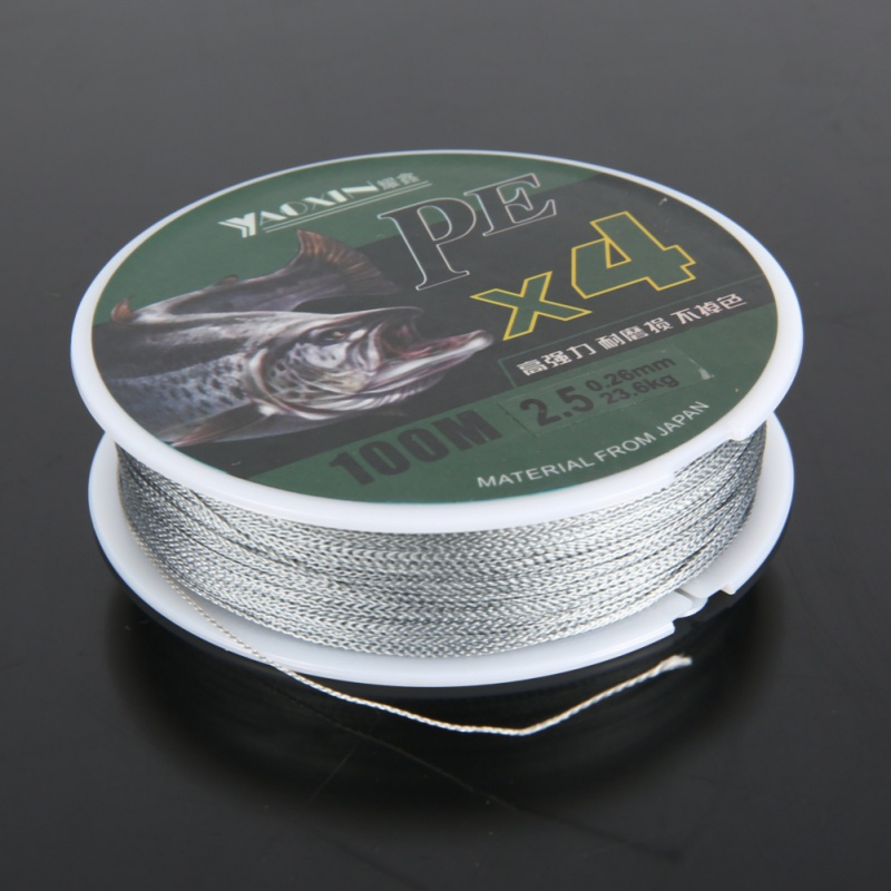 1PC 100m PE Braided Fishing Line 4 Strands Fishing Lines Multi-filament Fish Line Rope Cord Super Strong Fishing Line
