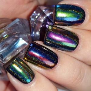 Image 3 - 0.2g Peacock  Chameleon Nail Glitter Powder Mirror Laser Chrome Pigment  Nail Art Decorations
