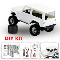 RC Car Model Kit 4WD Front And Rear Locked DIY 1:35 Axle 120r/min Reduce Speed Motor 7.4V 260mAh Battery For Orlandoo
