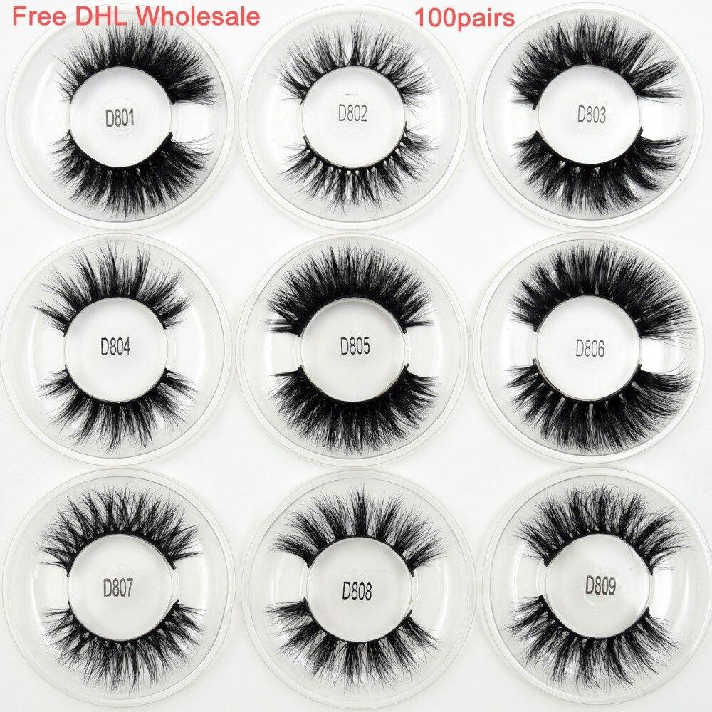 100 pairs Free DHL Visofree Wholesale 16 styles Mink Eyelashes 3D Mink Lashes Invisible Band False