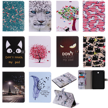 Luxury Horse Print Leather Magnetic Flip Wallet Tablet Case Cover Bag Coque Funda For Samsung Galaxy Tab A 8.0