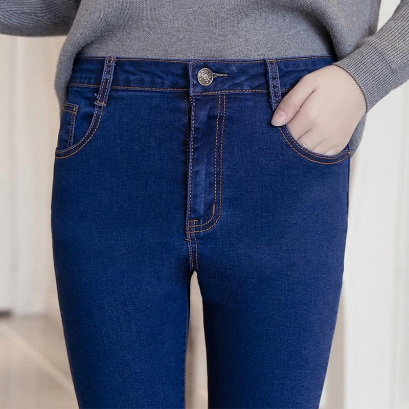 New 2017 Spring Jeans Female High Waist Denim Pants Femme Slim Stretch Skinny Pencil Pants Skinny Jeans Z327 rosicil jeans women 2017 spring new plus size jeans female high waist slim skinny denim pants femme pencil jeans pants sl021