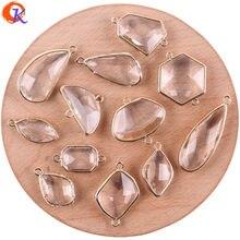 Design Cordial 50 pièces accessoires de bijoux/fait à la main/bricolage/connecteurs de boucles doreilles/pendentif en cristal/bijoux à breloques/boucles doreilles
