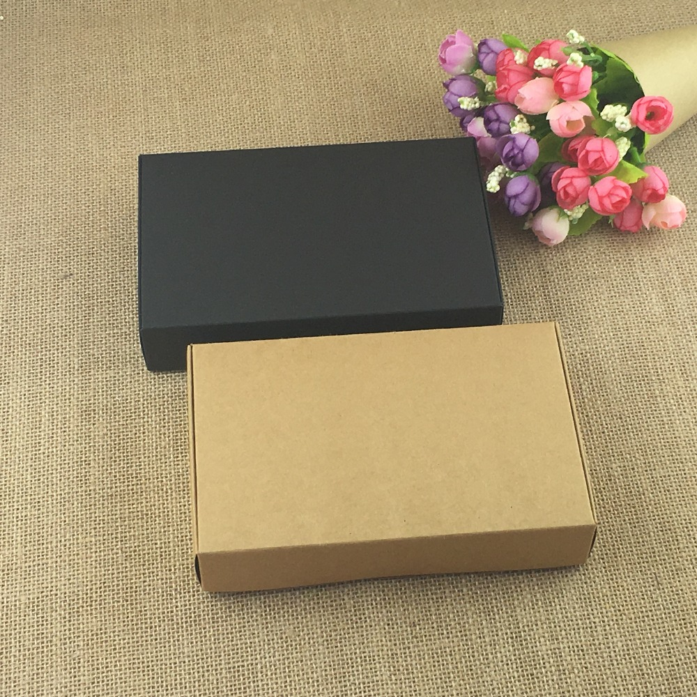 Natural Brown And Black Gift Box For Jewelry Carrying Good Quality 24Pcs For Packing Storage Candy Toys Small Gift Paper Boxes