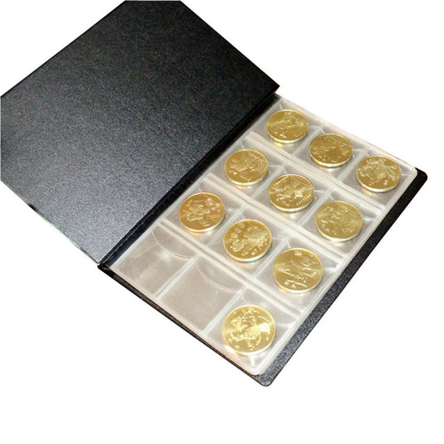 Coin Al For Coins Holder Collection Storage 120 Collecting Worid Stock Pockets Book