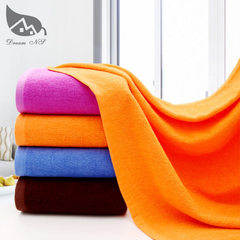 Bath towels large towels large bath towels cotton adult thick SPA hotel beauty gifts absorbent white towels and blue orange