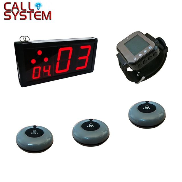 1 écran 15 boutons cloche 1 poignet téléavertisseur table basse système de bouton dappel sans fil