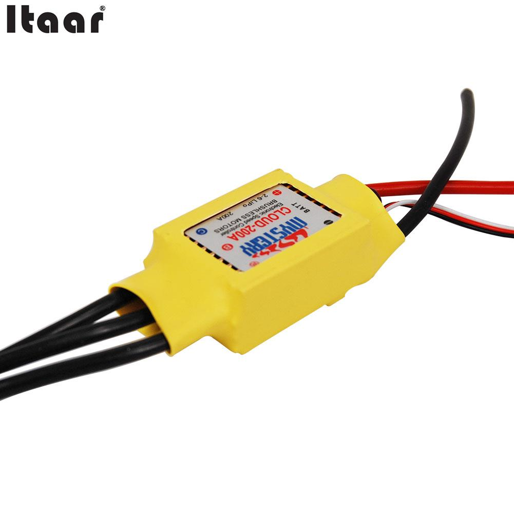 Hot Mystery RC 200A 2-6s Brushless ESC for Boat V2.1 RC Model Speed Controller Parts Accs aluminum water cool flange fits 26 29cc qj zenoah rcmk cy gas engine for rc boat