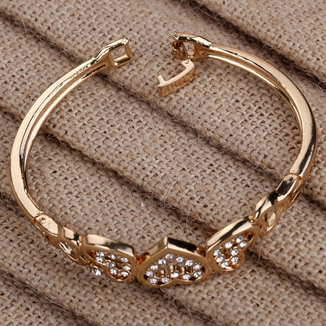 selling multiple gold fashion colors classic hollow girl rose bracelet circle women party gift simple item hot genuine