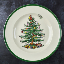 1 Pcs 6.5 INCH  Christmas Tree Ceramic Breakfast Plate Beef Dishes Dessert Dish Fruit Snack Plate Simple Creative Plate