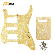 цена на Pleroo Guitar parts st pickguards with back plate and 17 Screws For fender 72'  Standard Strat HSH PLAYER SERIES PICKUPS Guitar