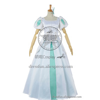 The Little Mermaid Cosplay Princess Ariel Costume White Formal Dress Lovely Dress Beautiful Fashion Glamorous Party