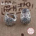 Retro Earrings 100% Real 925 Sterling Silver Jewelry Clip Earrings for Women Party Gifts Bijoux Thai Silver Earrings SY31175