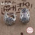 Retro Earrings 100% Real 925 Sterling Silver Jewelry Clip Earrings for Women Party Gifts Bijoux Thai Silver Earrings SY31175