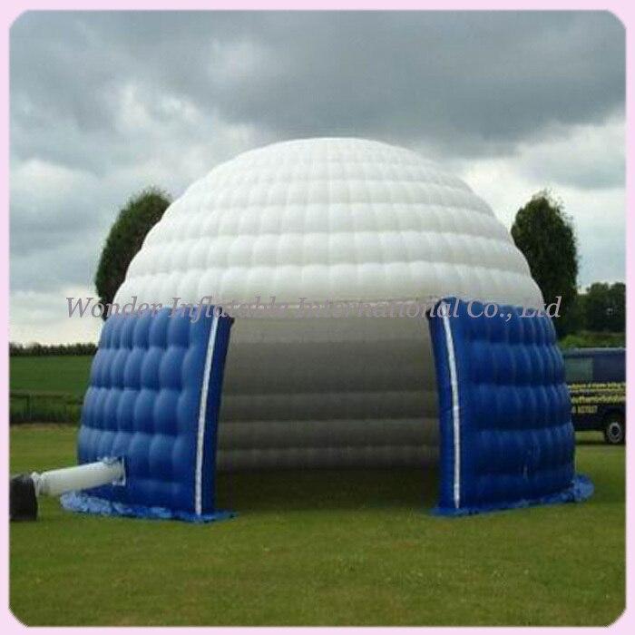 Портативный уличная Водонепроницаемая надувной купол палатки форме Купола для событий