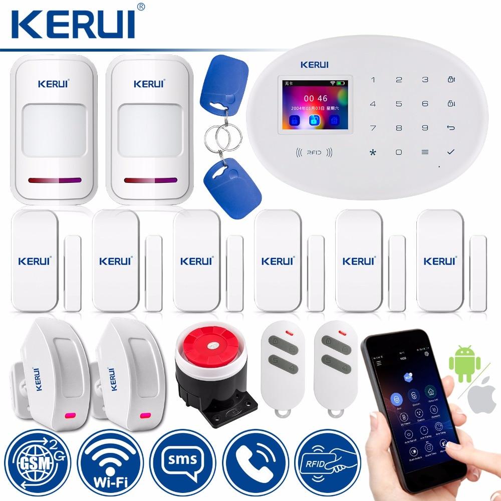 KERUI W20 WIFI GSM Smart Home Security Alarm System Motion Detector 433MHz Wireless RFID Card APP