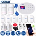 KERUI W20 WIFI GSM casa inteligente sistema de alarma de seguridad de Detector de movimiento inalámbrico 433 MHz RFID tarjeta de Control remoto APP ladrón alarma