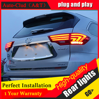 Car Styling 2015 Highlander Taillights New Highlander LED Tail Lamp Rear Lamp DRL+Turn Signal+Brake+Reverse auto Accessories led