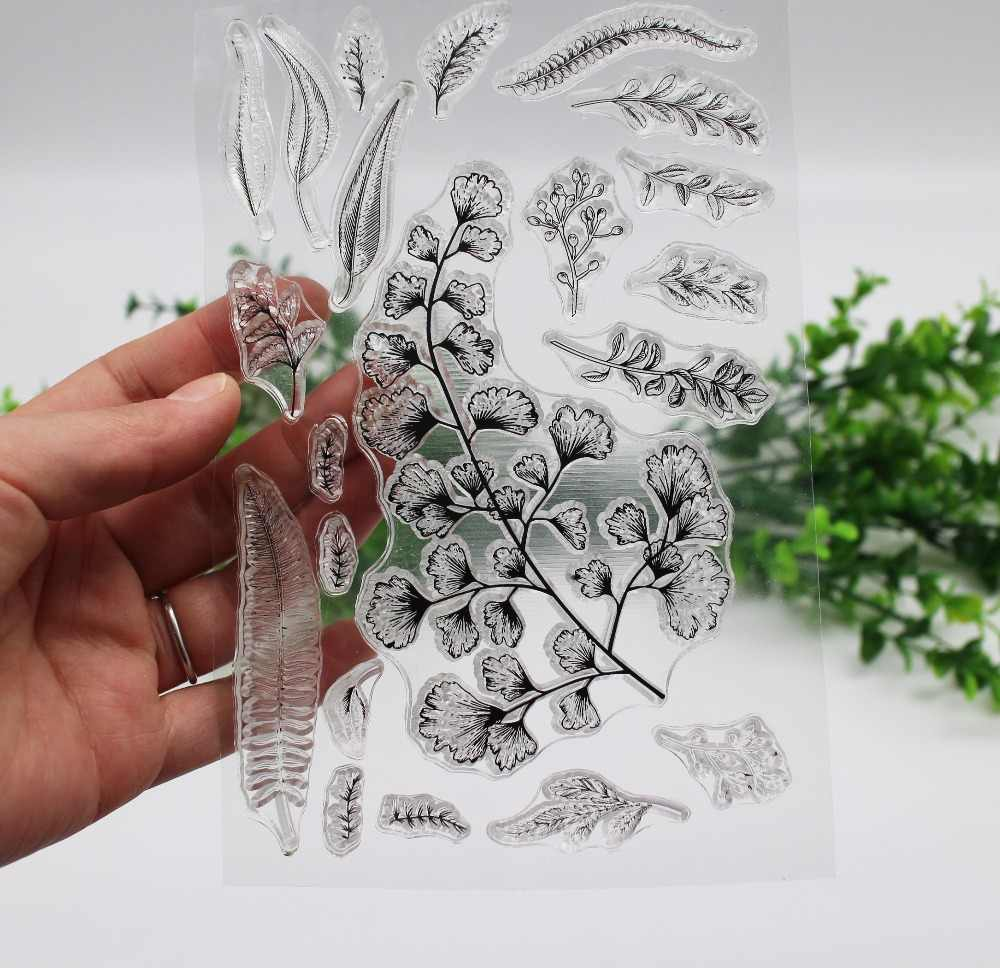 Leaves Rubber/silicone Stamps Ginkgo leaves Seal For Scrapbooking photo album Craft Card Album Decorative clear stamp set