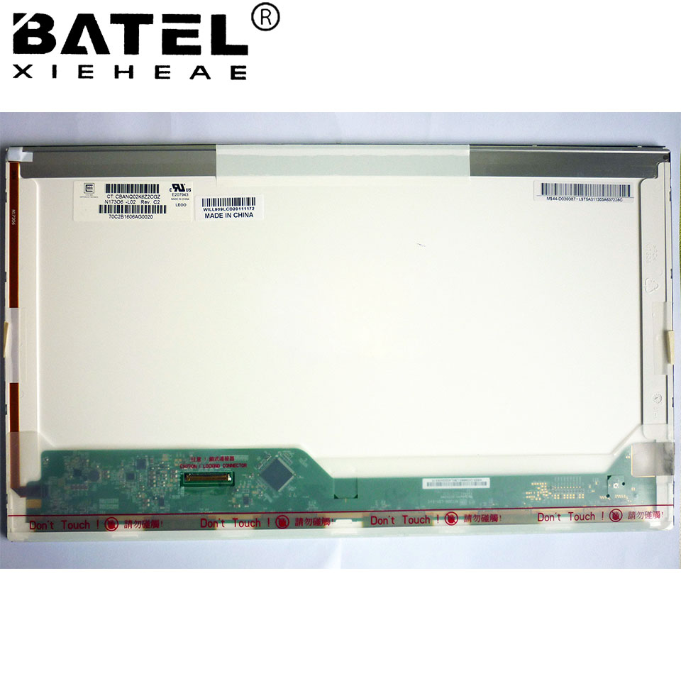 BATEL XIEHEAE N173O6-L02 rev . c1 HD|+ 1600x900 40Pin LVDS Laptop LCD Screen LCD Matrix Glare Glossy N17306-L02 rev . c1 la40a550p1r high pressure plate i400h1 20 c a001b screen v400h1 l03 rev c1