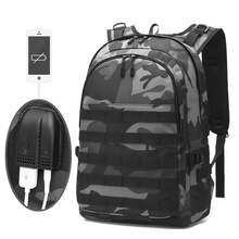 New USB Headphone Tactical Camouflage Backpack 40L Molle Military Hiking Bags Outdoor Mens Rucksack Travel
