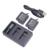 1 unids/2 unids/4 unids ahdbt-501 li-ion de la batería 1220 mah + 1 unids cargador dual usb lcd pantalla inteligente cargador para cámara gopro hero 5