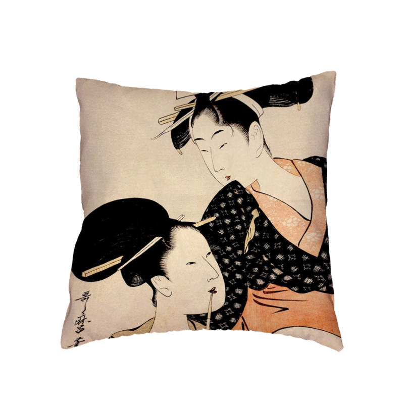 Song and Dance Cushion Cover Fireworks Happiness Para Almofada Camping Rabbit Wave Point Bow Home Office Bed Couch Decoration