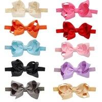 10 Pcs Lot Fashion Cute Baby Girls Headbands Polyester Toddler Bowknot Hair Band Bows Hair Accessories