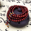 8mm Tibetan Buddhism 108 Rose wood Prayer Bead Mala Necklace