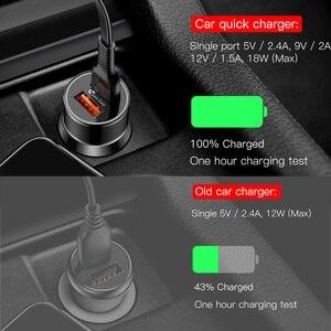 Image 3 - Baseus 36W szybkie ładowanie 3.0 ładowarka samochodowa dla iPhone QC 3.0 USB type c PD szybkie ładowanie telefon komórkowy szybka ładowarka ładowarka samochodowa