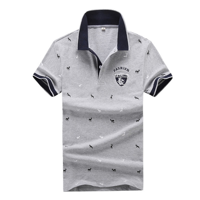 Fashion Summer Short Sleeve Polo Shirt Men Cotton