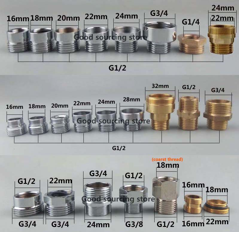 16/18/20/22/24/26/28/32 Kitchen Water Purifier Faucet Aerator Adapter