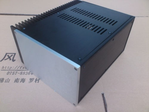 цены 2515 Full Aluminum Enclosure/power amp box/DIY PSU chassis one side radiator -sn