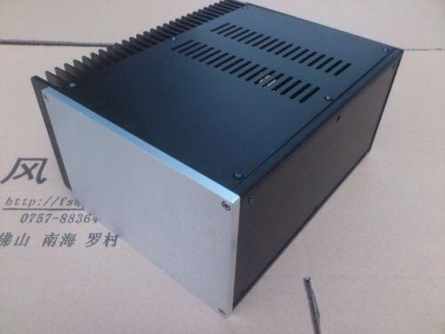 Boîtier en aluminium 2515/boîte d'ampli de puissance/châssis PSU bricolage un radiateur latéral-sn