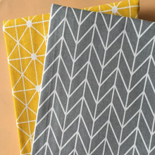 Geometric Patterns Printed Cotton Linen Fabric Wear-Resistant Canvas For DIY Sewing Quilting Home Textile