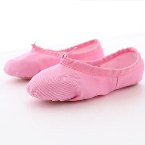 Image 3 - Çocuk dans ayakkabıları yumuşak tuval kızlar dans ayakkabıları yüksek kaliteli dans terlik dans bale ayakkabıları