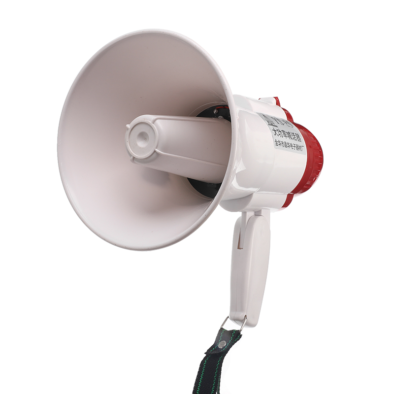 HQ-108 Portable Speaker Megaphone Strap Grip Loudspeaker Record Play With Siren