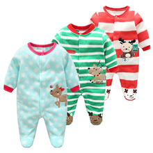 Cotton Baby Rompers Christmas Baby Boy Clothes 2019 Newborn Clothing Spring Baby Girl Clothes Roupas Bebe Infant Baby Jumpsuits цена 2017