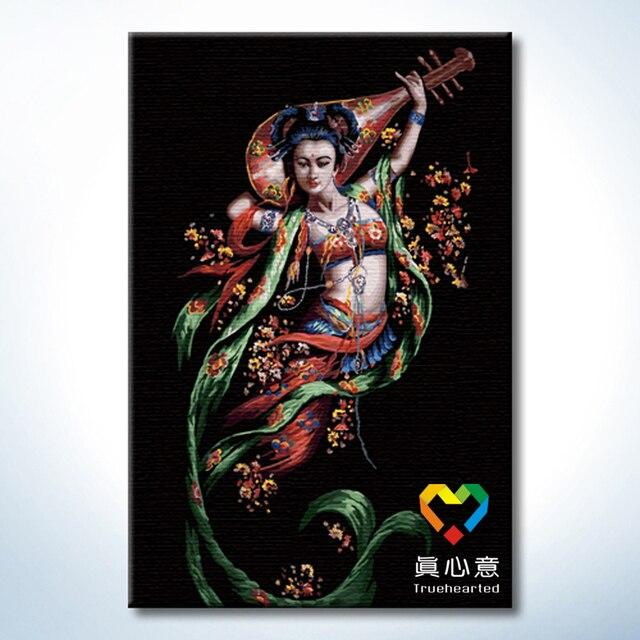 Diy digital oil painting digital painting - Pipa 60 90cm