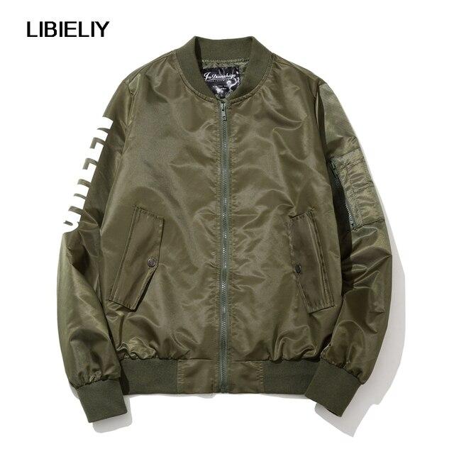 Bomber Jacket Men Fashion Nice New Slim Fit Men Jackets Letter ...
