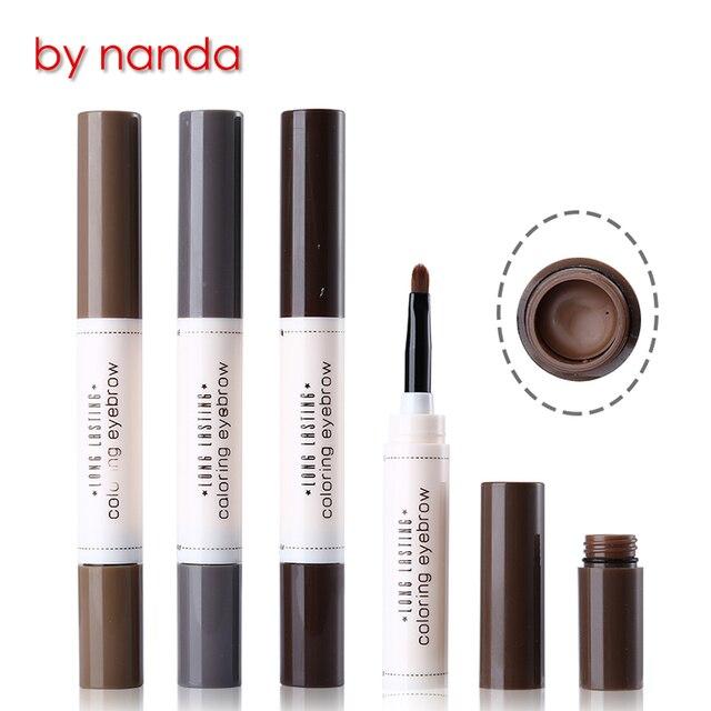 Por la marca Nanda 5 colores crema de cejas maquillaje Realzador de ...