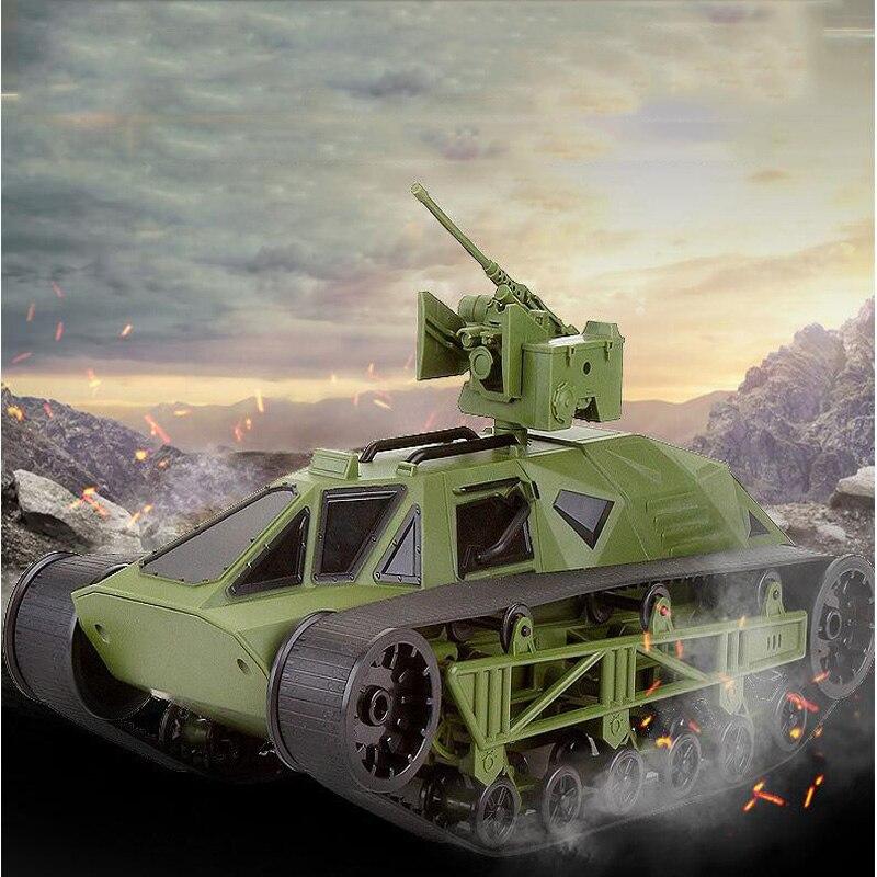Télécommande réservoir voiture chenille escalade tout-terrain Simulation modèle militaire réservoir voiture enfant garçon bataille tir réservoir jouet cadeau