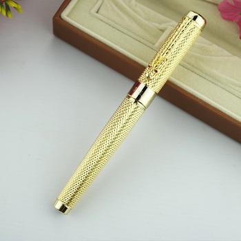 Jinhao1200 Dragon Clip 0 7mm pióro kulkowe średni punkt czarny tusz srebrny złoty czarny metalowy prezent kulkowe długopisy biurowe tanie i dobre opinie CN (pochodzenie) Biuro i szkoła pen
