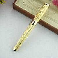 Jinhao1200 smoka klip 0.7mm pióro kulkowe średni punkt czarny atrament srebrny złoty czarny metalowy prezent długopisy biurowe w Długopisy kulkowe od Artykuły biurowe i szkolne na